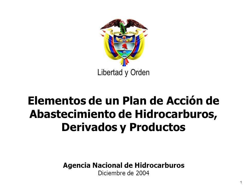 1 Libertad y Orden Agencia Nacional de Hidrocarburos Agencia Nacional de Hidrocarburos Diciembre de 2004 Libertad y Orden Elementos de un Plan de Acci