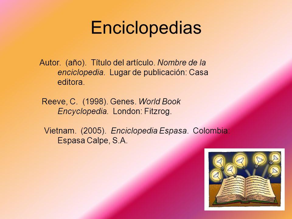 Ejemplo de bibliografía Sangría de (3) espacios y se comienza en el (4) espacio Craig, J.R. (1982). Métodos de la investigación sicológica. México: Ed