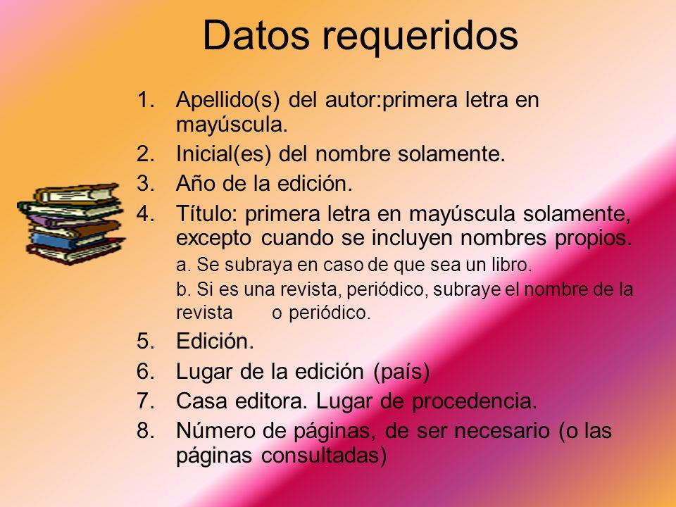 Enciclopedias Autor. (año). Título del artículo. Nombre de la enciclopedia. Lugar de publicación: Casa editora. Reeve, C. (1998). Genes. World Book En