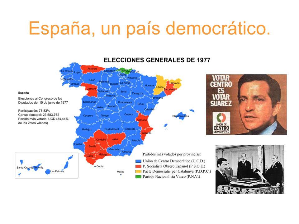 Tras las elecciones de 1977 comenzó de nuevo el periodo democrático que llega hasta nuestros días.