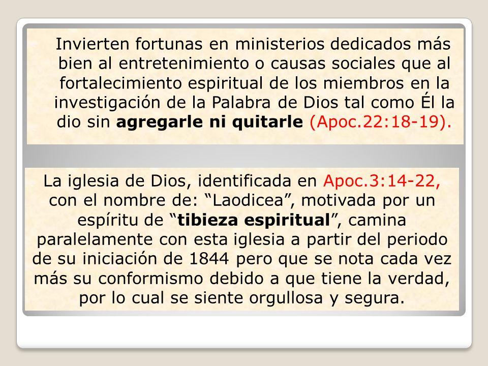 Invierten fortunas en ministerios dedicados más bien al entretenimiento o causas sociales que al fortalecimiento espiritual de los miembros en la inve