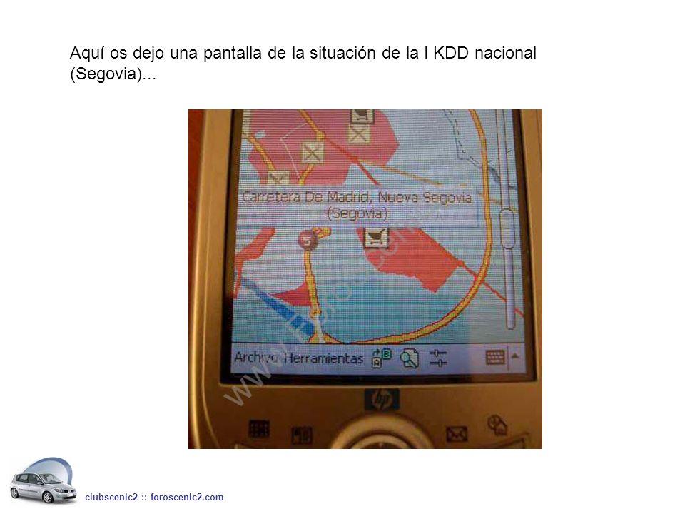 Aquí os dejo una pantalla de la situación de la I KDD nacional (Segovia)... clubscenic2 :: foroscenic2.com