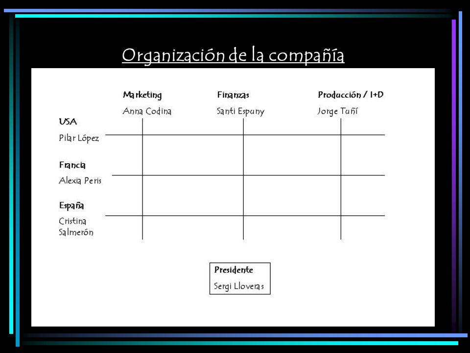 Organización de la compañía