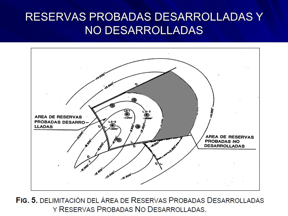 RESERVAS PROBADAS DESARROLLADAS Y NO DESARROLLADAS