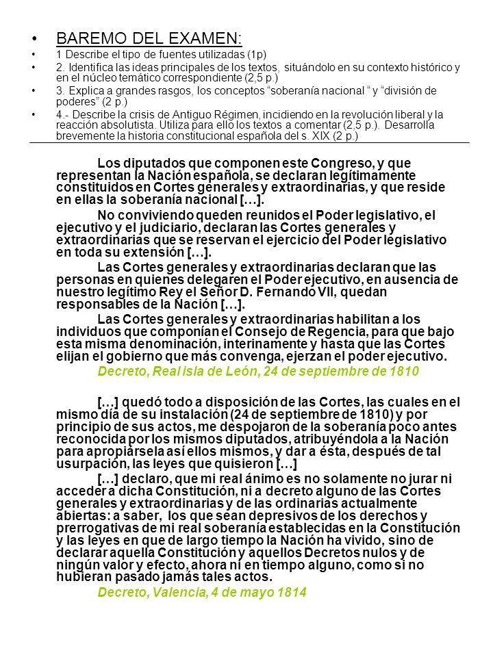 Los diputados que componen este Congreso, y que representan la Nación española, se declaran legítimamente constituidos en Cortes generales y extraordinarias, y que reside en ellas la soberanía nacional […].