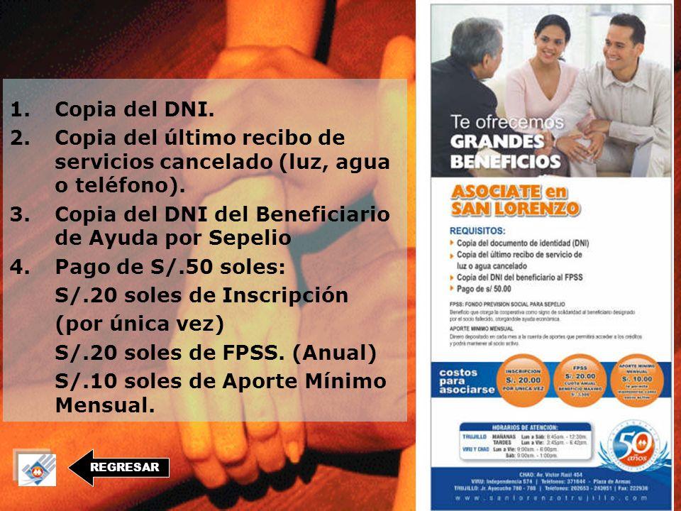 REGRESAR Visítanos en : TRUJILLO Jr. Ayacucho Nº 780 CHAO Av. Víctor Raul Nº 449 VIRÚ Independencia Nº 574 (Plaza de Armas)