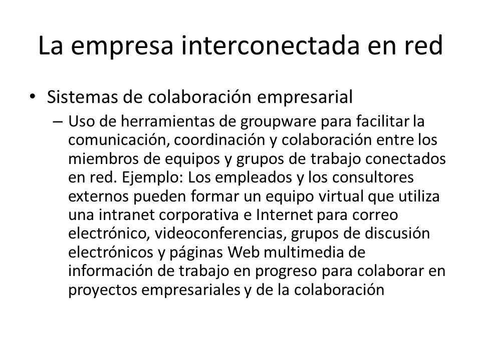 La empresa interconectada en red Sistemas de colaboración empresarial – Uso de herramientas de groupware para facilitar la comunicación, coordinación