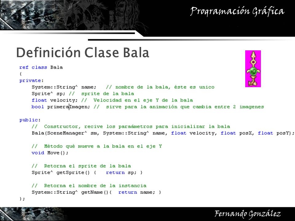 Definición Clase Bala