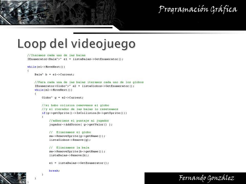 Loop del videojuego