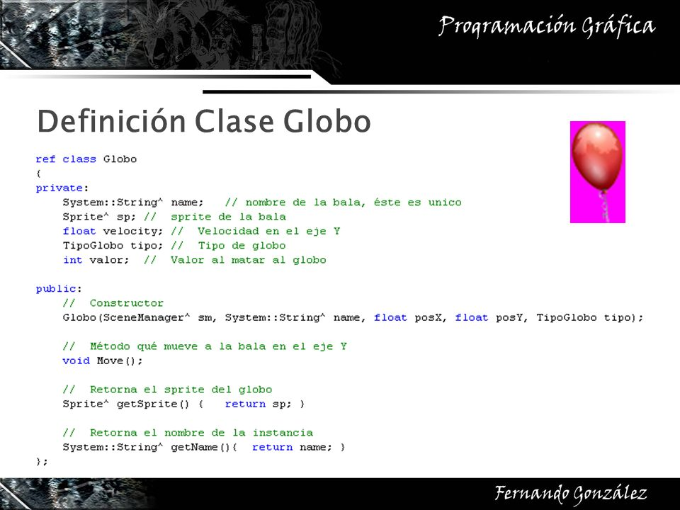 Definición Clase Globo