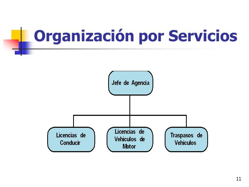 11 Organización por Servicios