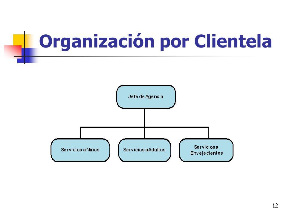 12 Organización por Clientela
