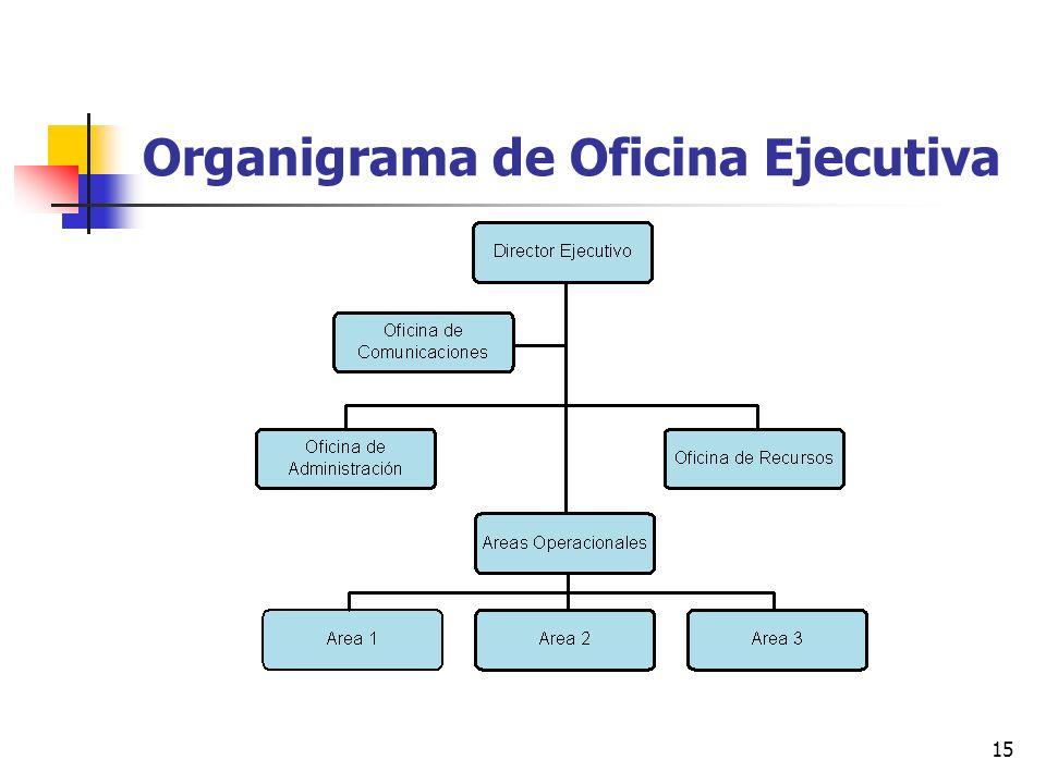 15 Organigrama de Oficina Ejecutiva