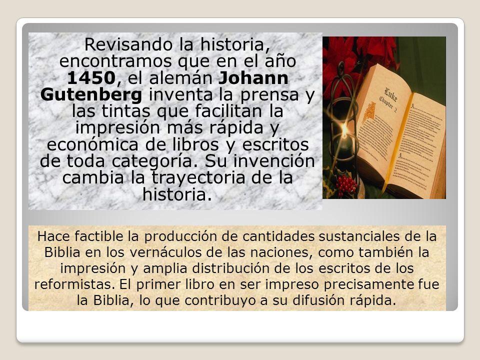 Revisando la historia, encontramos que en el año 1450, el alemán Johann Gutenberg inventa la prensa y las tintas que facilitan la impresión más rápida
