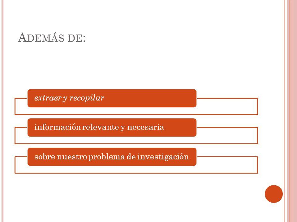 D ETECCIÓN DE LA LITERATURA Y OTROS DOCUMENTOS : FUENTES DE INFORMACIÓN primarias libros, antologías, artículos de publicaciones periódicas, monografías, tesis y disertaciones, documentos oficiales, reportes de asociaciones trabajos presentados en conferencias o semina rios, artículos periodísticos, testimonios de expertos, películas, documentales y videocintas