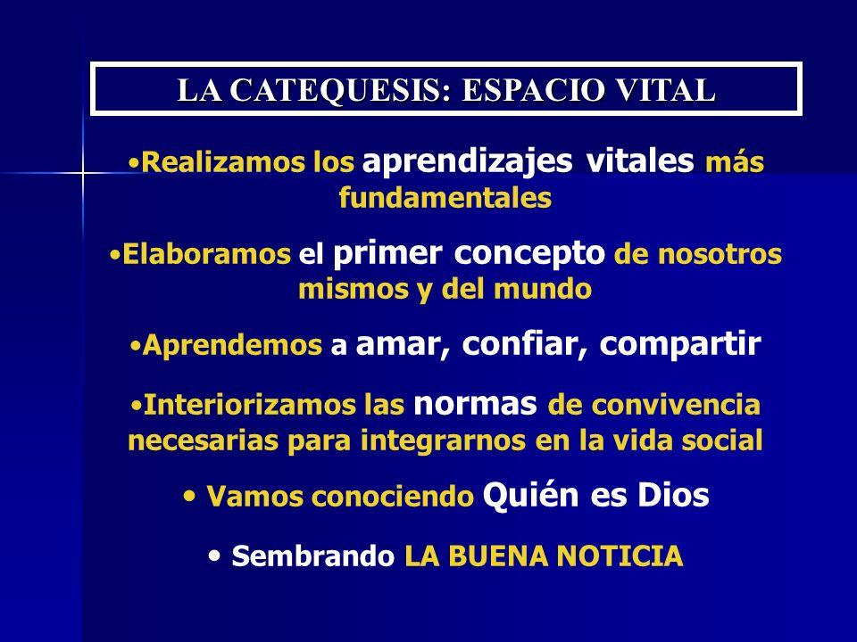 Figura del CATEQUISTA GUÍA Y REFERENTE EXPERIENCIAL Aprendizajes Maduración personal Configuración del proyecto vital Experiencia de Dios NUESTRA LABOR NO ES NEUTRAL