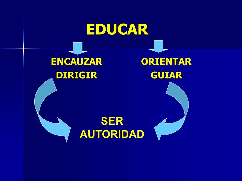 EDUCAR ENCAUZARDIRIGIRORIENTARGUIAR SER AUTORIDAD