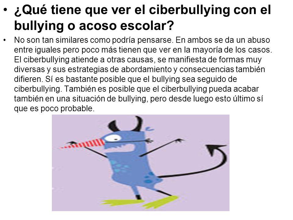 ¿Qué tiene que ver el ciberbullying con el bullying o acoso escolar? No son tan similares como podría pensarse. En ambos se da un abuso entre iguales