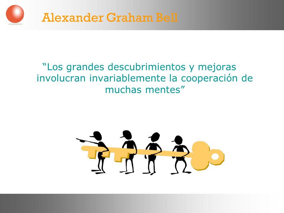 Los grandes descubrimientos y mejoras involucran invariablemente la cooperación de muchas mentes Alexander Graham Bell
