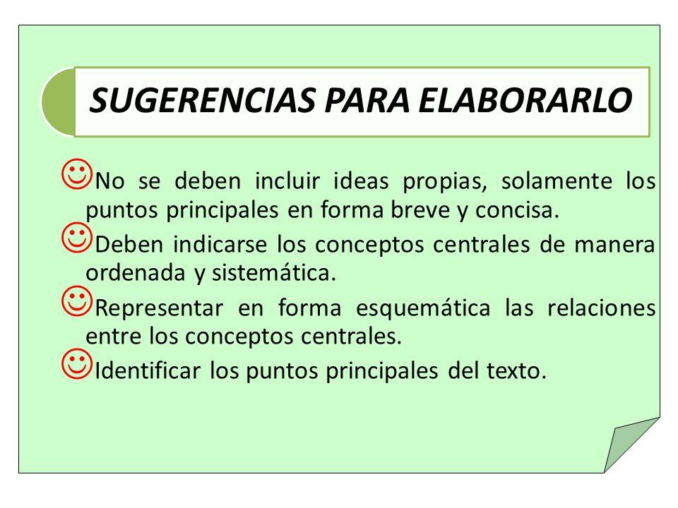 Identificar los conceptos centrales del texto.