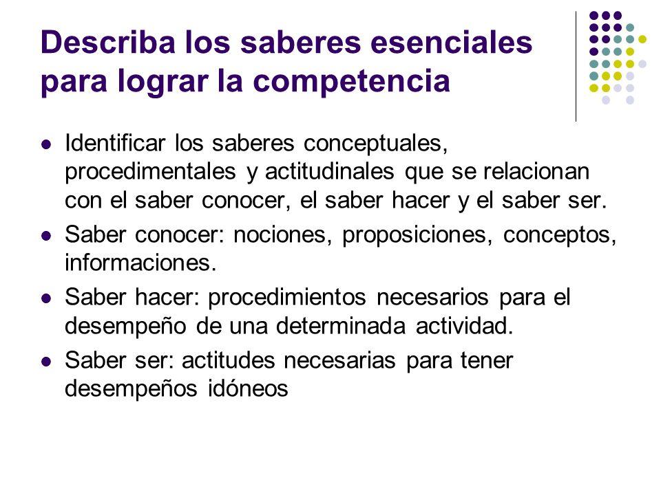 Rango de aplicación de la competencia Diferentes escenarios y contextos donde puede aplicarse la competencia.