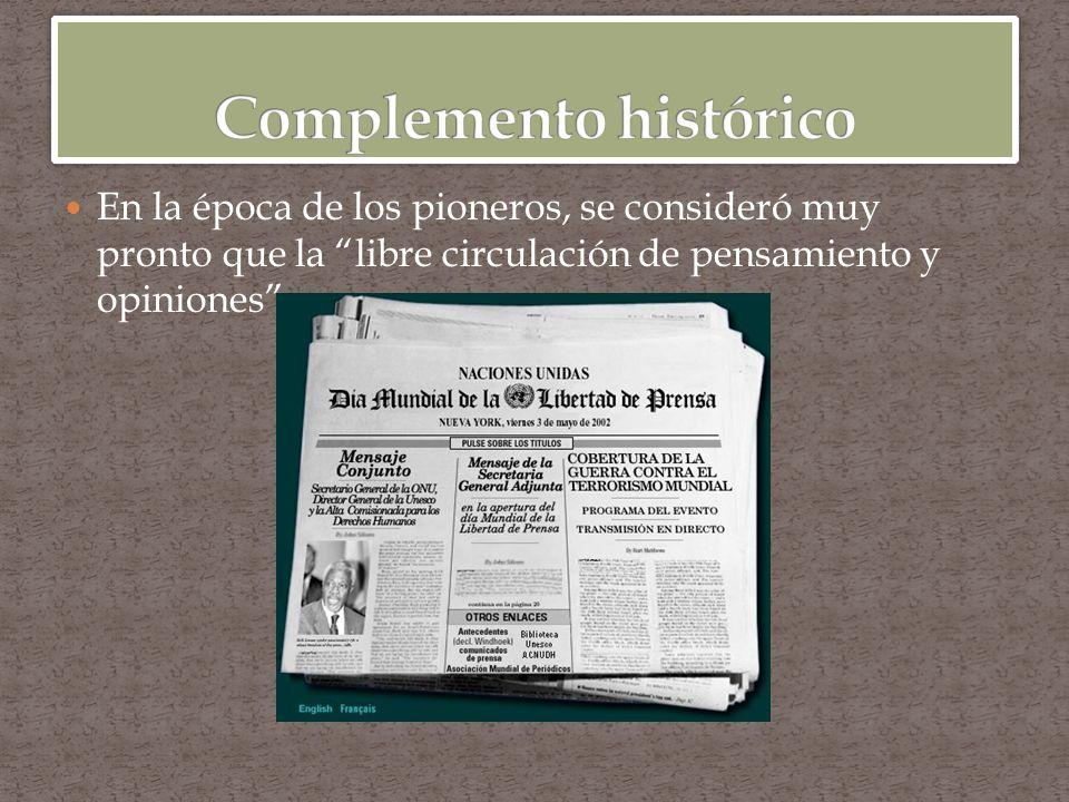 El desarrollo de la prensa en el sentido moderno de la palabra, derivado del antiguo pero más restringido ha contribuido a destacar la importancia de la difusión.