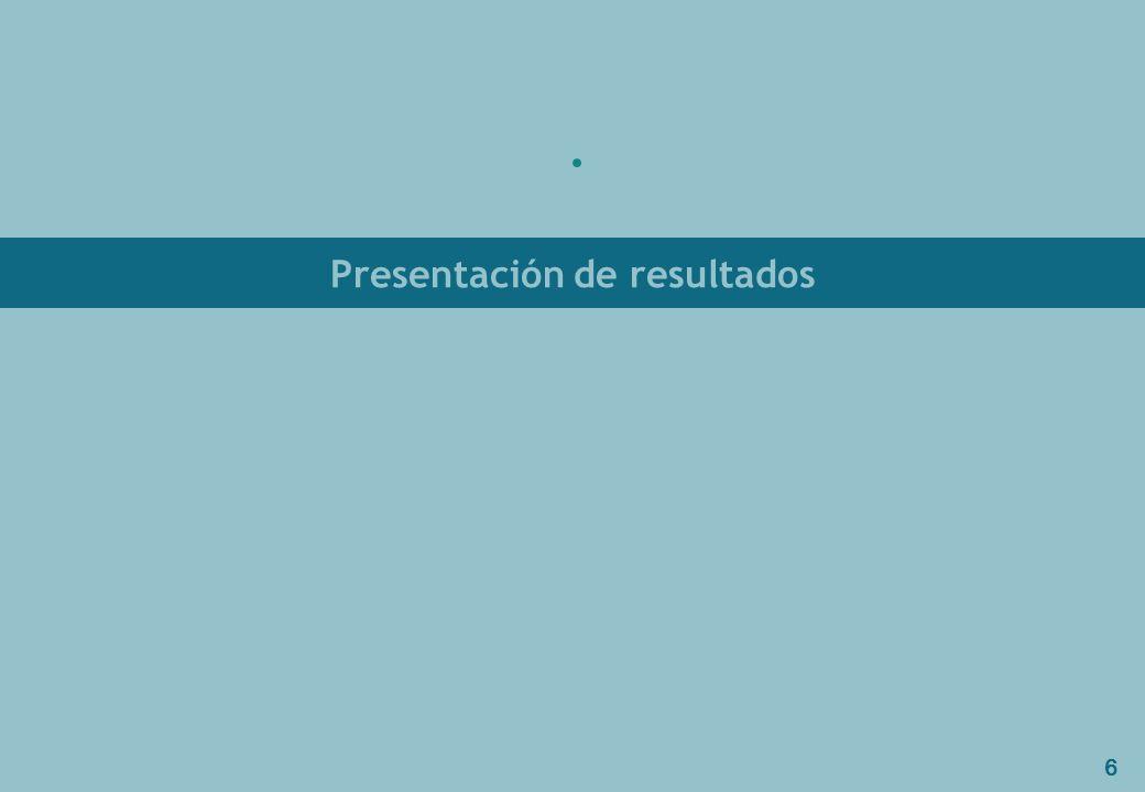 6 Presentación de resultados