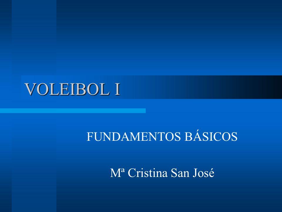 VOLEIBOL I FUNDAMENTOS BÁSICOS Mª Cristina San José