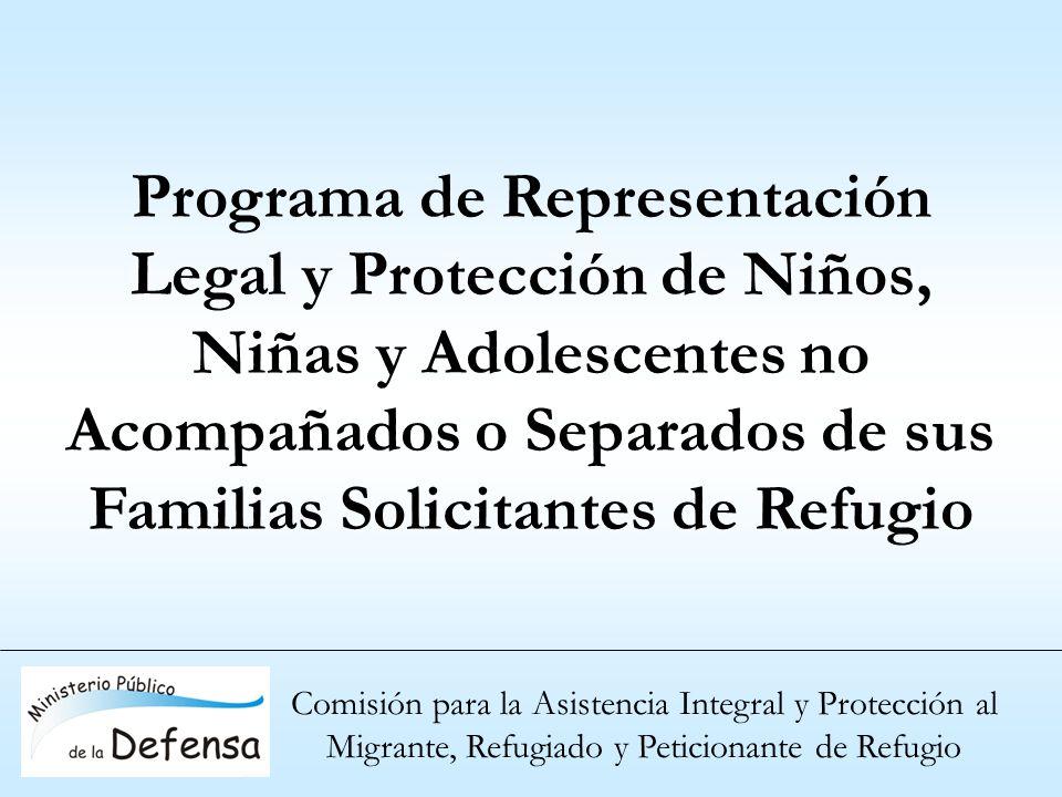 Comisión para la Asistencia Integral y Protección al Migrante, Refugiado y Peticionante de Refugio Programa de Representación Legal y Protección de Ni