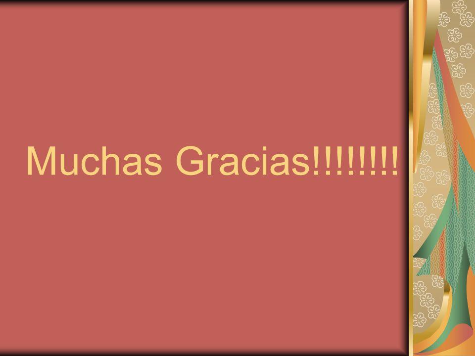 Muchas Gracias!!!!!!!!