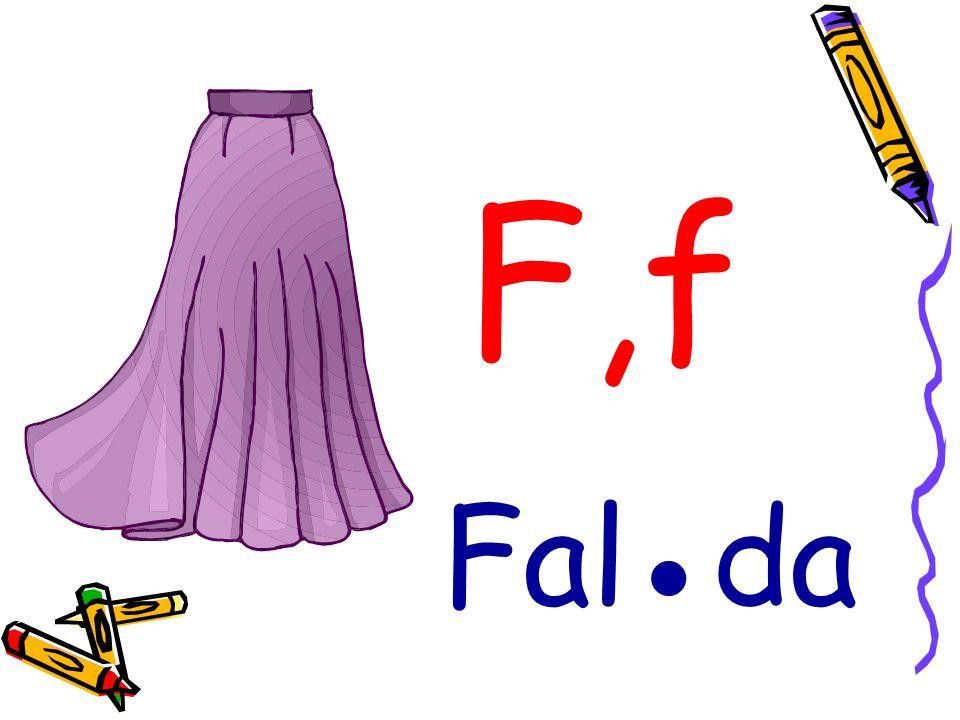 F,f Falda
