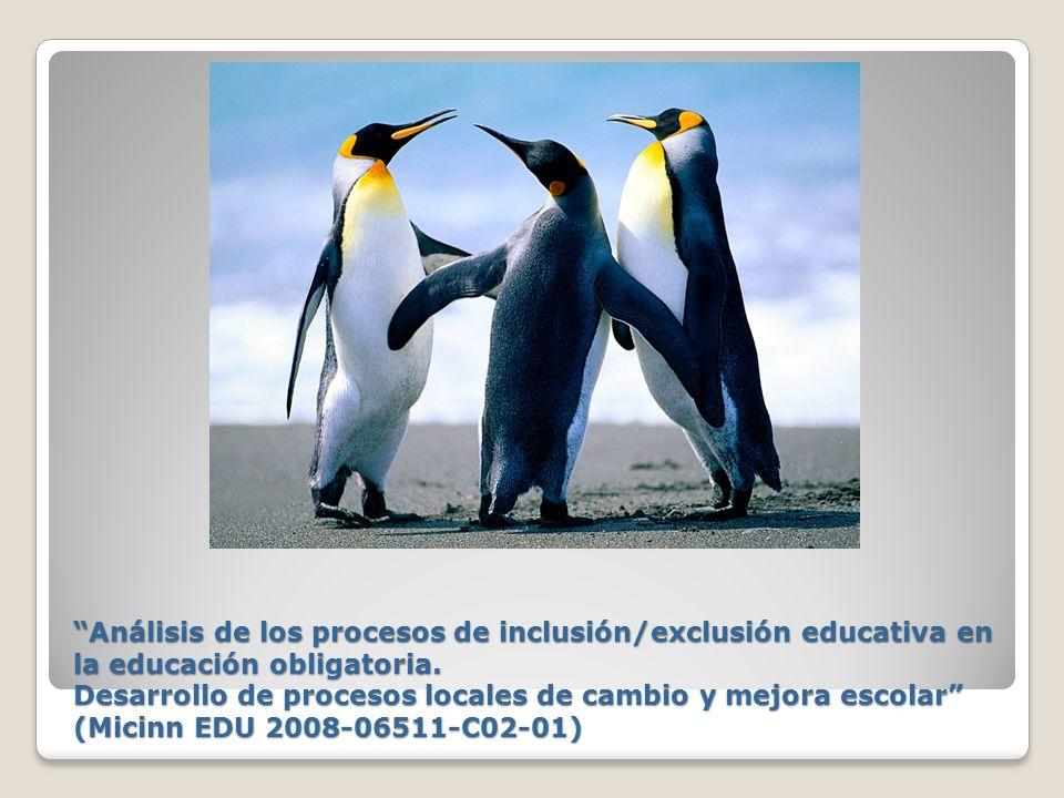Análisis de los procesos de inclusión/exclusión educativa en la educación obligatoria. Desarrollo de procesos locales de cambio y mejora escolar (Mici