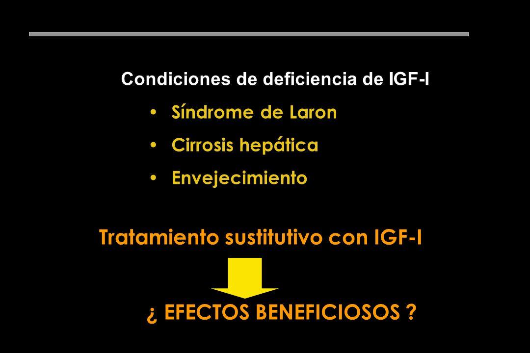 Función de la GH en el organismo adulto GH ? Efectos anabolizantes GH IGF- I (-)