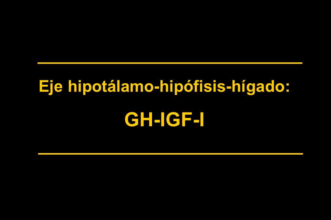 Eje hipotálamo-hipófisis-hígado: GH-IGF-I
