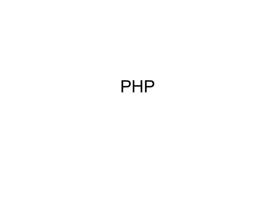 PHP (Hypertext Preprocessor) preprocesador de Hipertexto Se ejecuta en el servidor El resultado de ejecutarse es código HTML Manual oficial en www.php.net/manual/es Hola <?php echo mundo ; ?> Hola mundo Hola mundo.php3