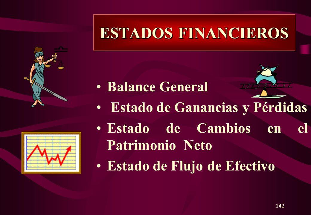 141 Son documentos contables o cuadros demostrativos de resumen que demuestran la situación económico- financiero y resultados de una empresa pública