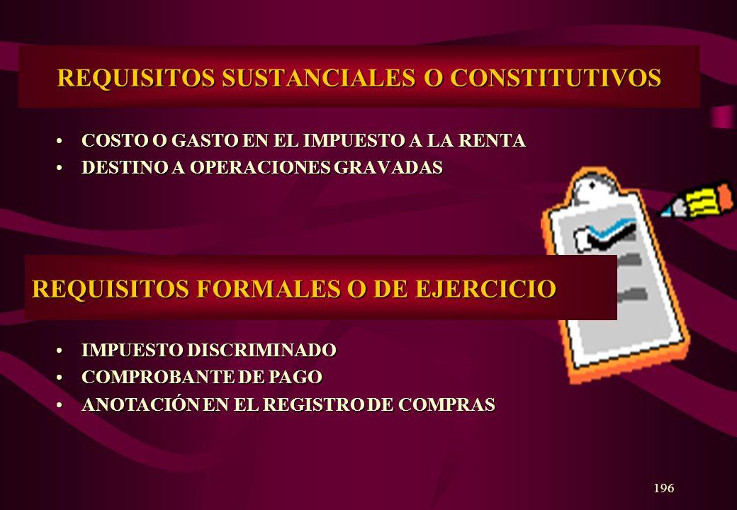 195 CREDITO FISCAL El crédito fiscal se encuentra constituido por el Impuesto General a las Ventas consignado separadamente en el comprobante de pago,