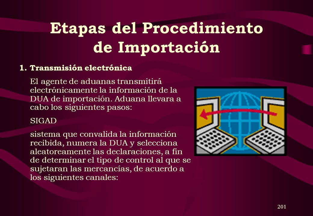 200 Documentos que exige SUNAT 2. Para el Sistema Anticipado de Despacho Aduanero o Despachos Urgentes: Declaración Única de Aduanas de importación de