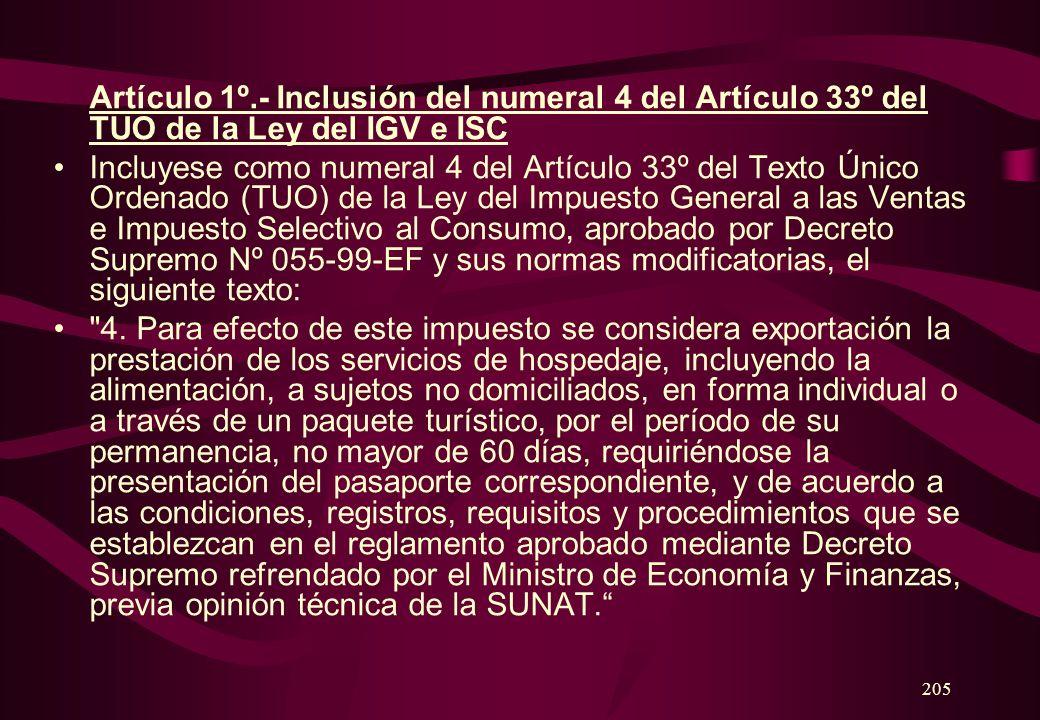 204 DECRETO LEGISLATIVO Nº 919 MODIFICACION DE LA LEY DEL IMPUESTO GENERAL A LAS VENTAS E IMPUESTO SELECTIVO AL CONSUMO