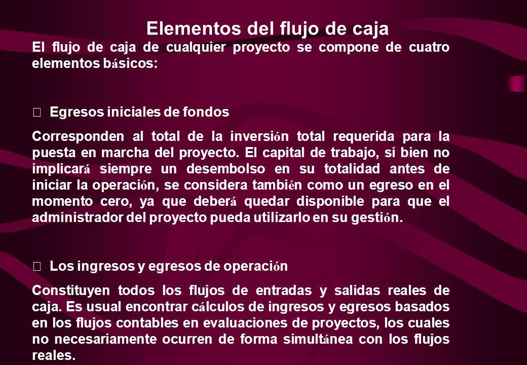El proyecto del flujo de caja constituye uno de los elementos m á s importantes del estudio de un proyecto, debido a los resultados obtenidos en el fl