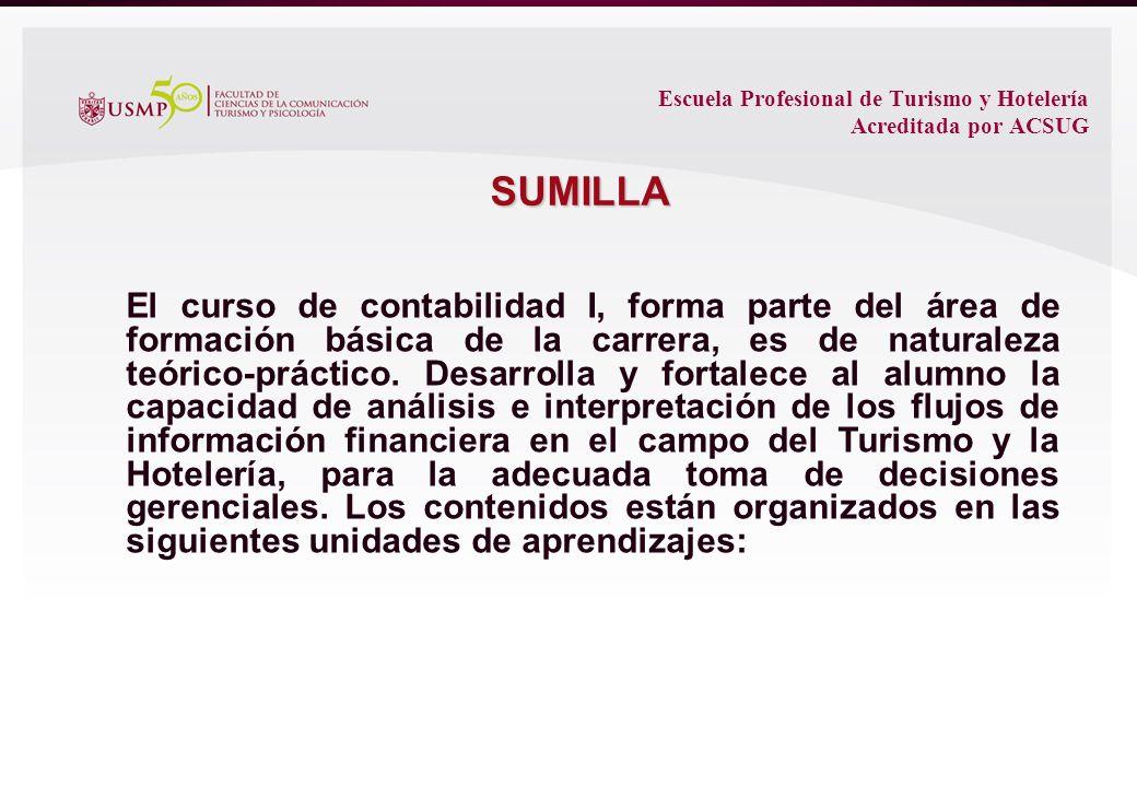 El curso de contabilidad I, forma parte del área de formación básica de la carrera, es de naturaleza teórico-práctico.
