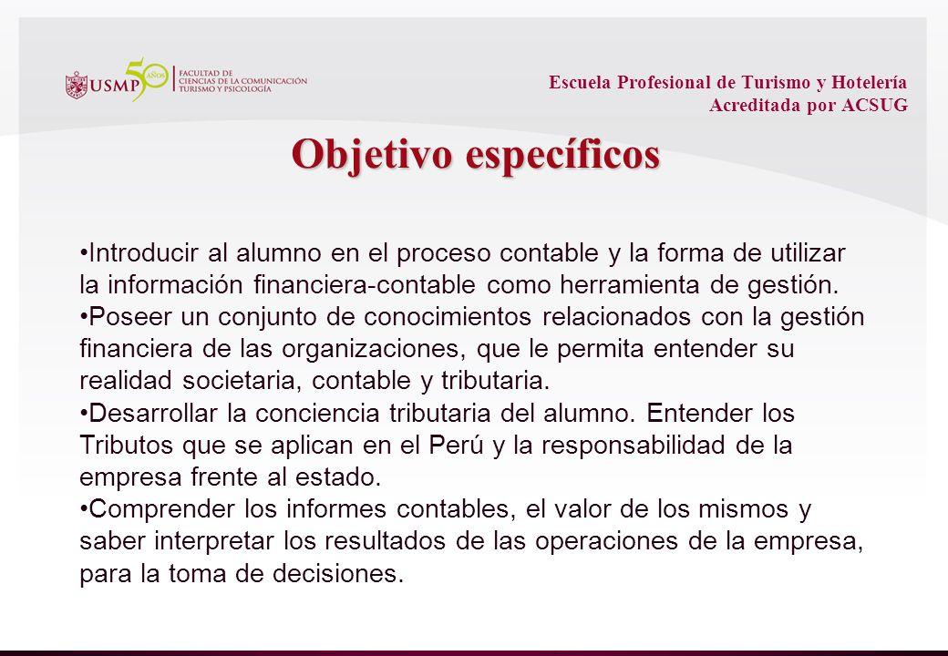 Escuela Profesional de Turismo y Hotelería Acreditada por ACSUG Estructura Patrimonial ACTIVOS (Bienes y Derechos que le pertenece) PASIVOS (obligaciones con terceros) PATRIMONIO NETO (Obligaciones con accionistas)