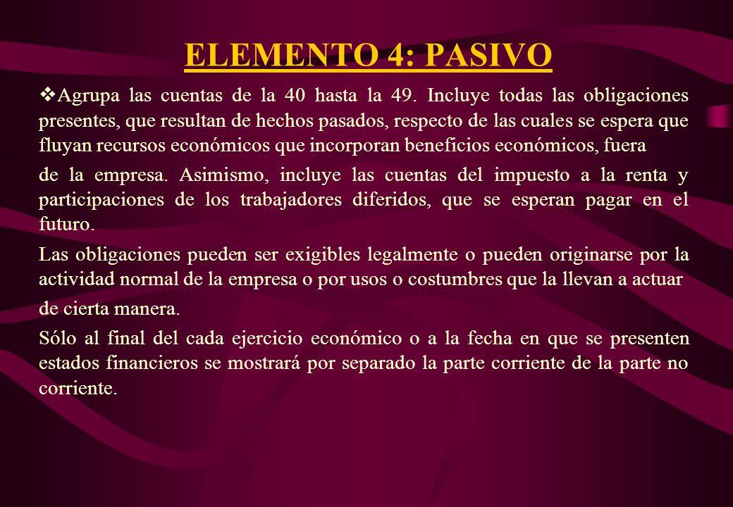 CUENTAS DEL ELEMENTO 4 82