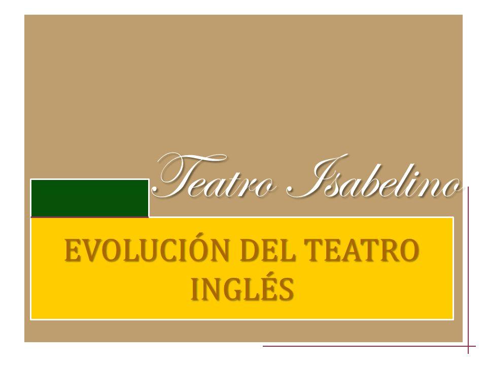 Teatro Isabelino EVOLUCIÓN DEL TEATRO INGLÉS