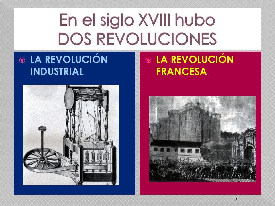 2 LA REVOLUCIÓN INDUSTRIAL LA REVOLUCIÓN FRANCESA