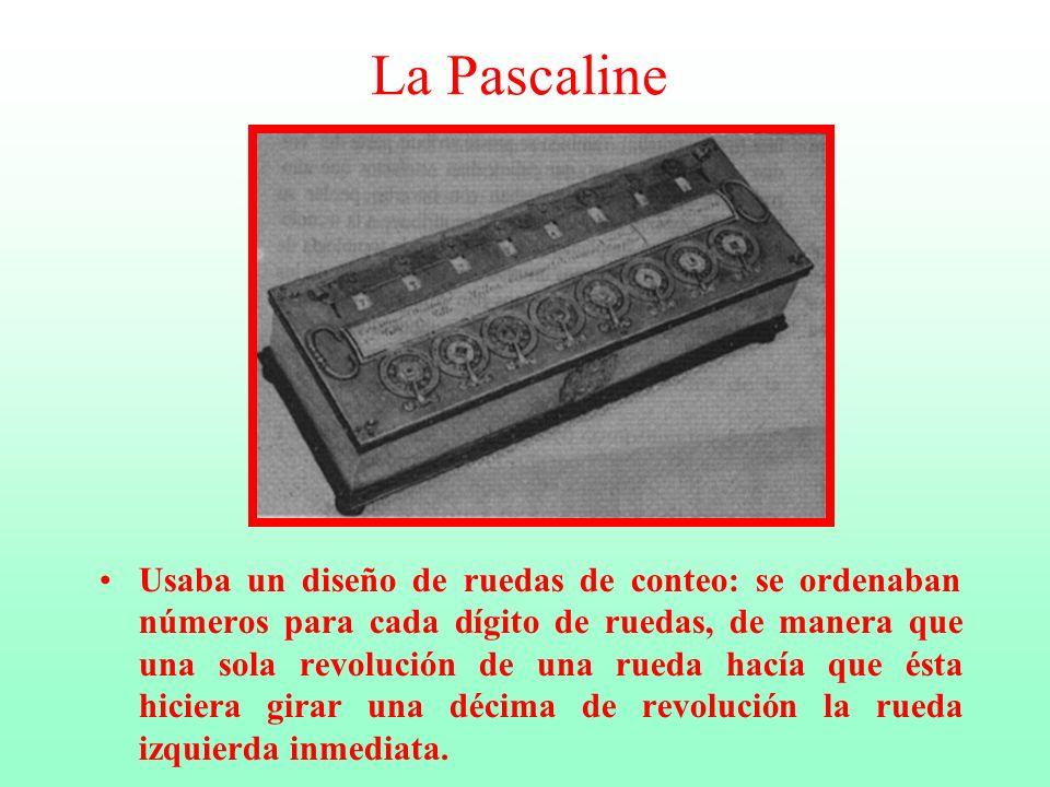 Blas Pascal Matemático y filósofo de origen francés (1623-1662) inventó y construyó la Pascaline en 1642, para ayudar a su padre que era recolector de