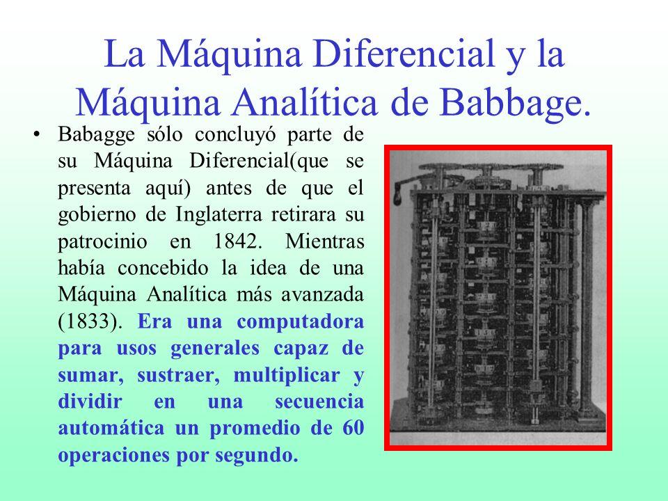 Las tablas calculadas en forma manual por lo regular contenían muchos errores. Después de percatarse de ello Charles Babbage (1793- 1871) ideó una Máq