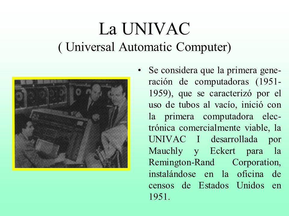 Evolución de las Computadoras Segunda Parte