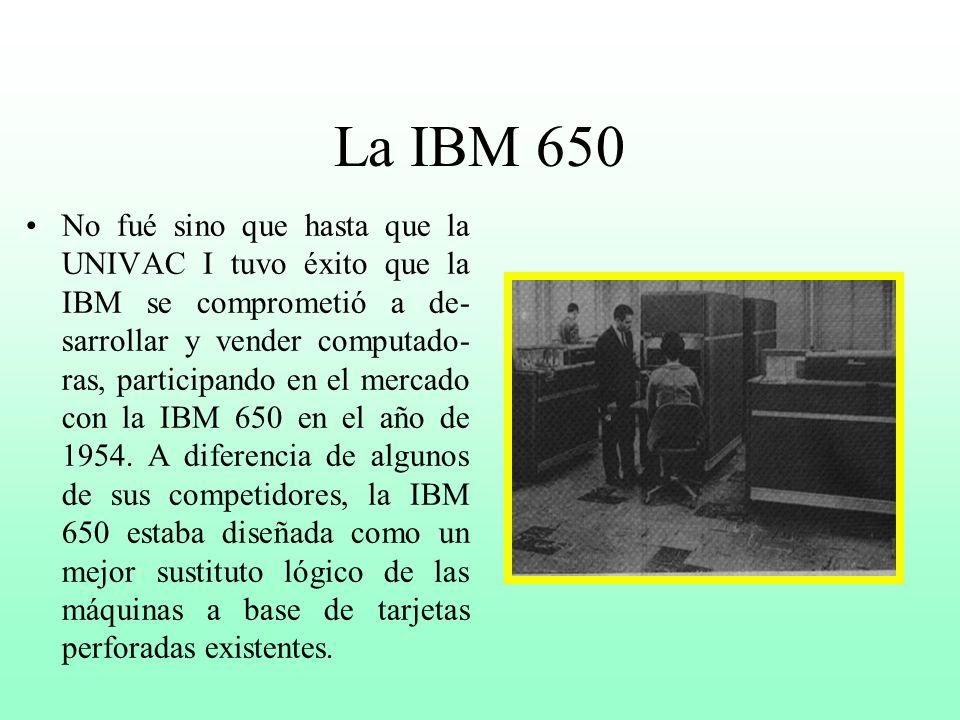 La UNIVAC ( Universal Automatic Computer) Se considera que la primera gene- ración de computadoras (1951- 1959), que se caracterizó por el uso de tubo