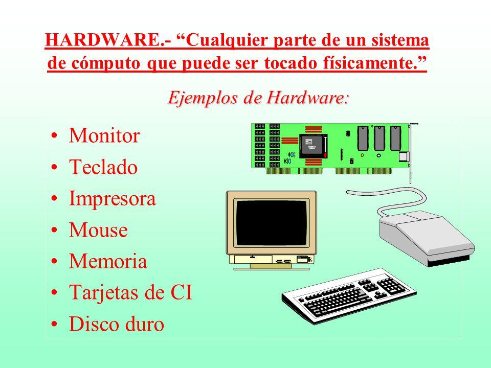 Sistema de Computación Se forma con cuatro componentes fundamentales: 1.- La entrada de datos. 2.- El procesamiento de datos. 3.- La salida de informa
